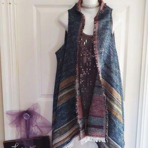 NWOT Bob Timberlake One Size O/S  Blanket Vest